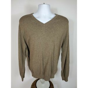 J. Crew Brown V-Neck Cotton Cashmere Sweater XXL